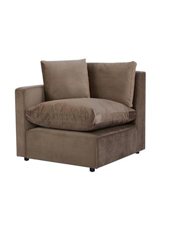 SOLARI - Modular Velvet Seating Collection ALMOND BEIGE