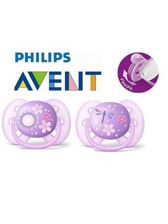 PHILIPS AVENT - Ultra Soft Patterned Pacifier 6-18months PURPLE