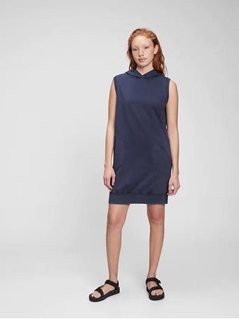 GAP - Tee Sweats Hoodie Dress NAVY UNIFORM