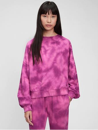 GAP - Vintage Soft Crewneck Sweatshirt PURPLE TIE DYE