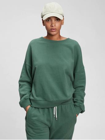 GAP - Vintage Soft Crewneck Sweatshirt BISTRO GREEN 19-5408