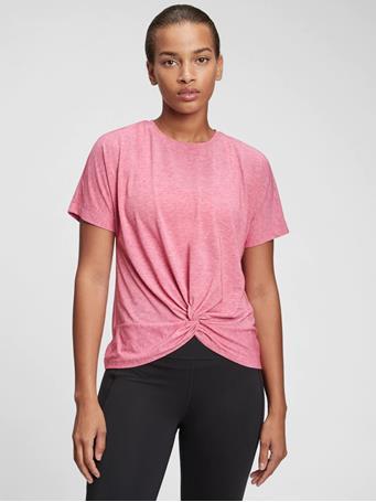 GAP - GapFit Twist-Front T-Shirt RASPBERRY GLAZE