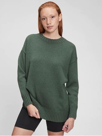 GAP - Relaxed Cotton Tunic Sweater KALE