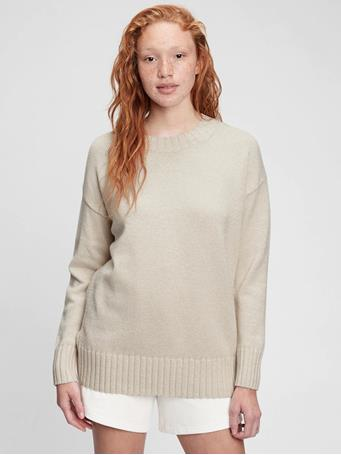 GAP - Relaxed Cotton Tunic Sweater SLICK ROCK