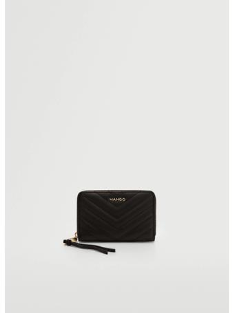 MANGO - Padded Logo Wallet BLACK