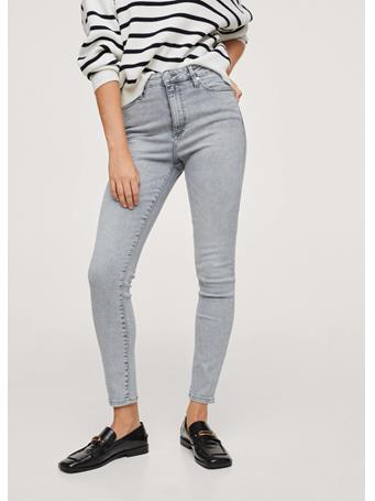 MANGO - High-rise Skinny Jeans DARK GREY