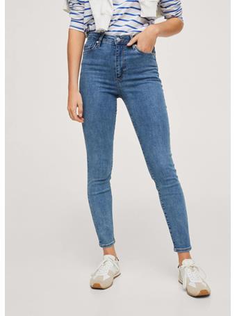 MANGO - High-rise Skinny Jeans MEDIUM BLUE