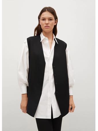 MANGO - Buttons Suit Waistcoat BLACK