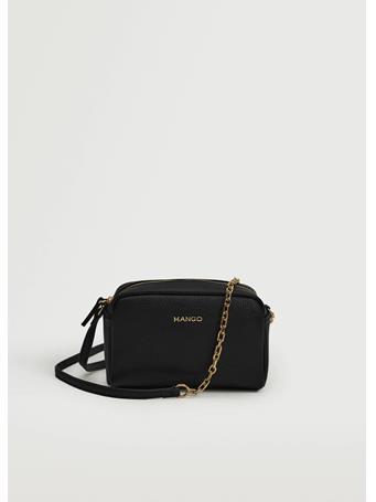 MANGO - Pebbled Effect Crossbody Bag BLACK
