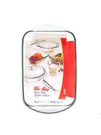 ANCHOR HOCKING  - Oblong Glass Baking Dish No Color