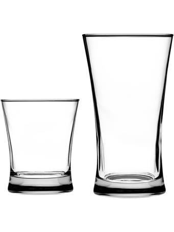 ANCHOR HOCKING - Linden 16-Piece Assorted Drinkware Set CLEAR