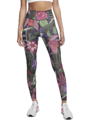 NIKE - Icon Clash Floral Leggings LASER CRIMSON
