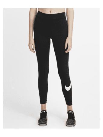 NIKE - Sportswear Essential Women's Mid-Rise Swoosh Leggings BLACK