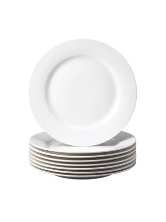 THOMSON POTTERY - 8 Piece Dinner Plate Set WHITE
