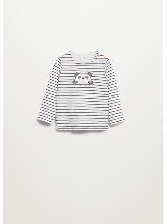 MANGO - Striped Long Sleeves T-shirt 2 IVORY