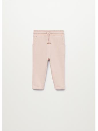 MANGO - Cotton Jogger-style Trousers 85 PINK
