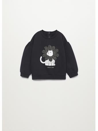MANGO - Textured Cotton-blend Sweatshirt 99 BLACK
