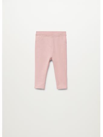 MANGO - Pockets Cotton Leggings 85 PINK
