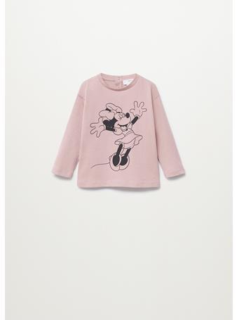 MANGO - Minnie Mouse T-shirt 85 PINK