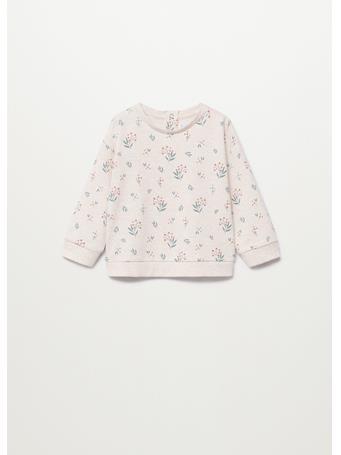 MANGO - Cotton-blend Printed Sweatshirt 7 TAN