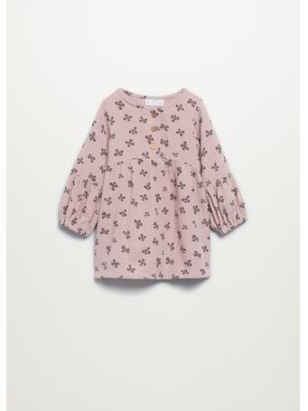 MANGO - Organic Cotton Printed Dress 85 PINK