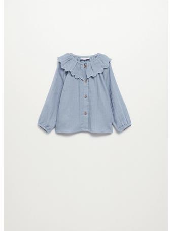 MANGO - Babydoll Collar Blouse 52 MED BLUE