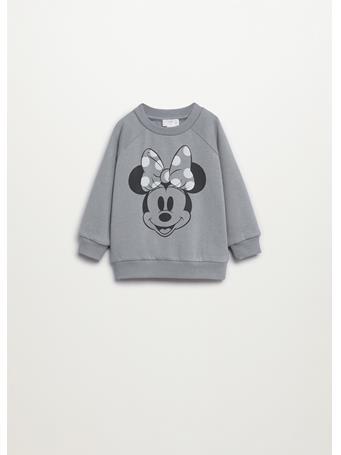 MANGO - Minnie Mouse Sweatshirt 94 GREY