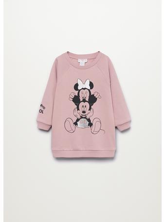 MANGO - Mickey And Minnie Mouse Sweatshirt Dress 85 PINK