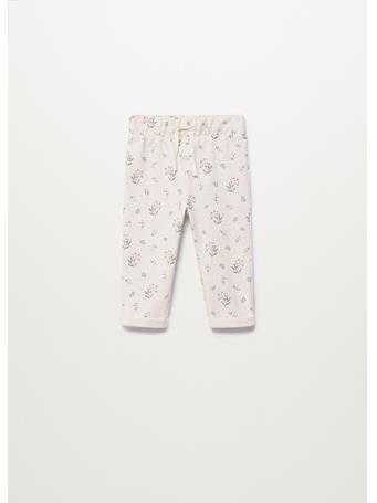 MANGO - Printed Cotton Pants 7 TAN