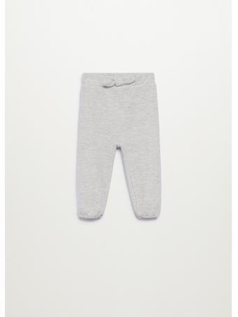 MANGO - Textured Jogger Pants 91 LIGHT GREY