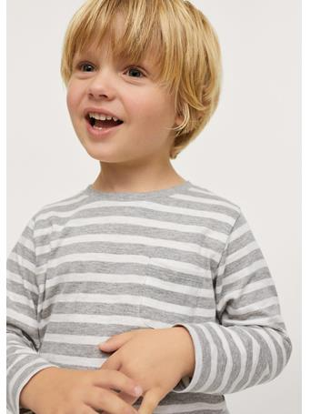 MANGO - Striped Long Sleeves T-shirt 56 NAVY