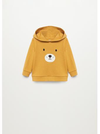 MANGO - Hoodie Cotton Sweatshirt 15 YELLOW