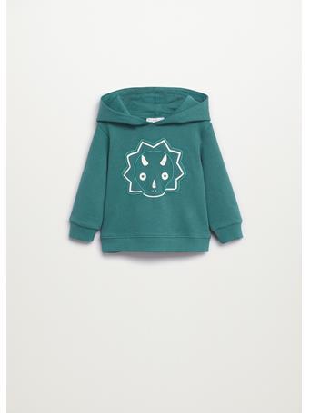 MANGO - Embroidered Cotton Sweatshirt 43 GREEN