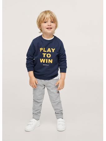 MANGO - Message Cotton Sweatshirt 69 NAVY