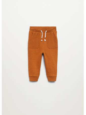 MANGO - Cotton Jogger-style Trousers 56 NAVY
