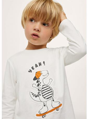MANGO - Printed Long Sleeve T-shirt 2 IVORY