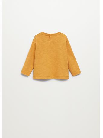 MANGO - Printed Long Sleeve T-shirt 15 YELLOW