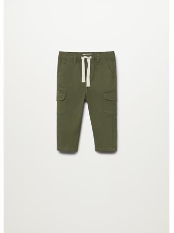 MANGO - Cotton Cargo Pants 37 KHAKI