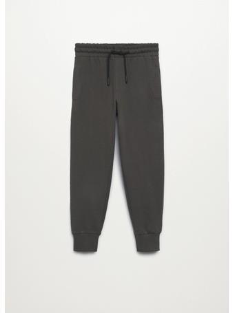 MANGO - Cotton Jogger-style Trousers 92 GREY