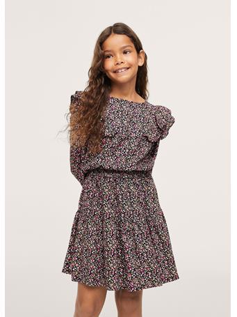 MANGO - Floral Print Skirt 99 BLACK