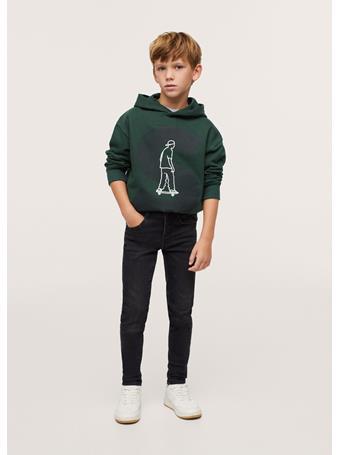 MANGO - Cotton-blend Printed Sweatshirt 49 DARK GREEN