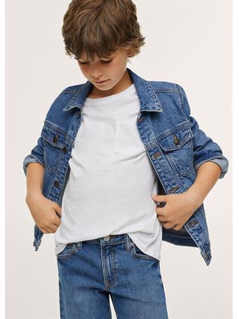 MANGO - Pockets Denim Jacket TM BLUE