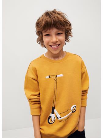 MANGO - Textured Cotton-blend Sweatshirt 15 YELLOW