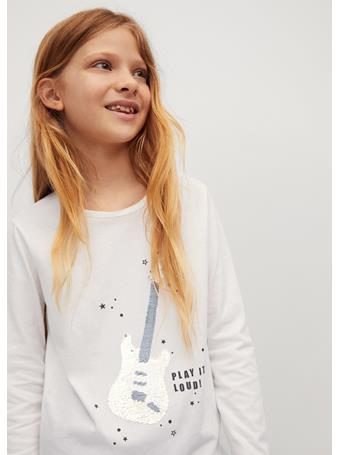 MANGO - Long-sleeved T-shirt With Sequins 2 IVORY