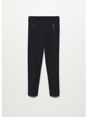 MANGO - Leggings With Seam Detail 99 BLACK