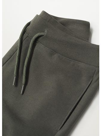 MANGO - Cotton Jogger-style Trousers 37 KHAKI