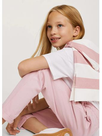 MANGO - Cotton Jogger-style Trousers 82 LIGHT PINK