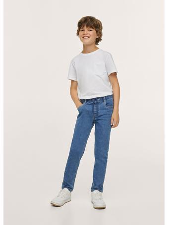 MANGO - Lace Drawstring Waist Jeans TO BLUE
