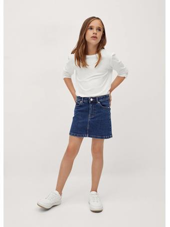 MANGO - Short Denim Skirt TM BLUE