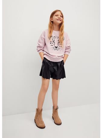 MANGO - Printed Cotton Sweatshirt 82 LIGHT PINK